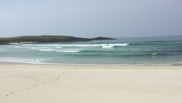 Scotland's very white beach