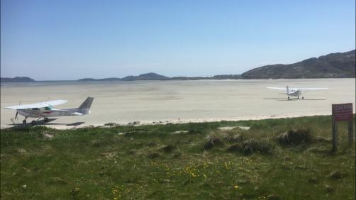 Barra's unique beach airstrip